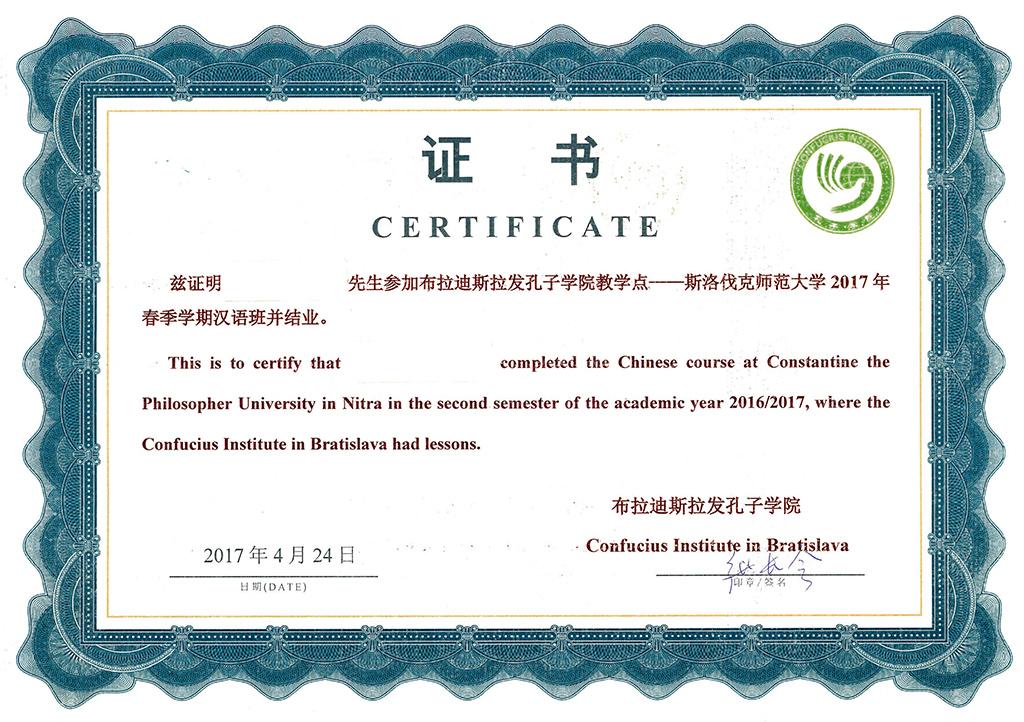 2017 ff kurz cinskeho jazyka certifikat