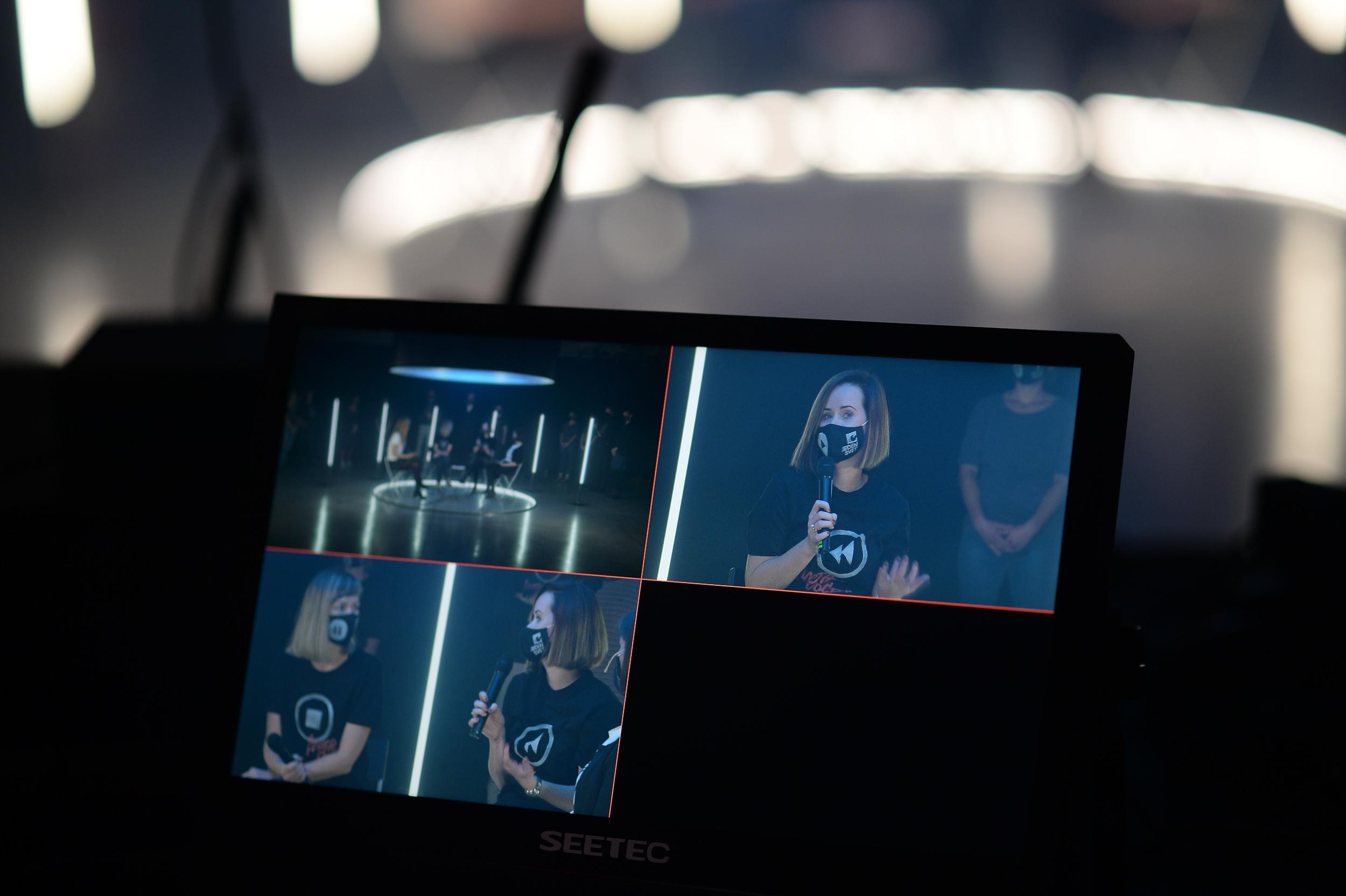 11 z natáčania záverečného ceremoniálu